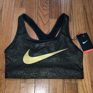 Nike Sports Bra- Gold Shimmer